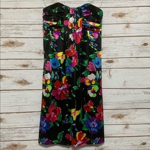 DuO Boutique Strapless Floral Dress NWT